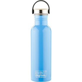 360° degrees Stainless Borraccia con tappo in bamboo, 750ml, sky blue